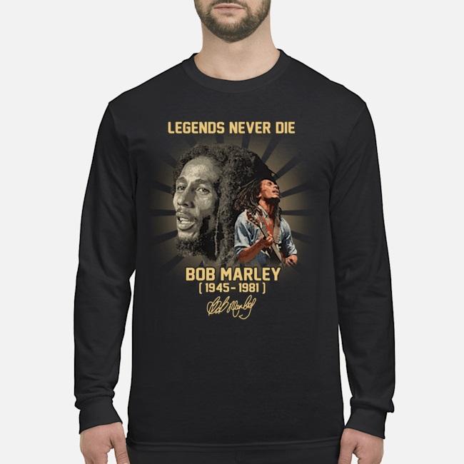 High Bob Marley legend never die 1945 1981 signature shirt