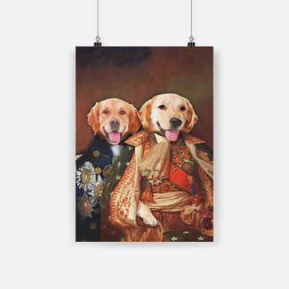 New ver Golden retriever portrait poster