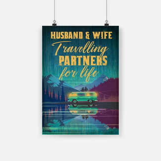 New ver Husband and wife travel partners for life poster