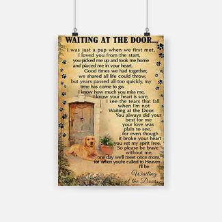 New ver Labrador retriever waiting at the door poster