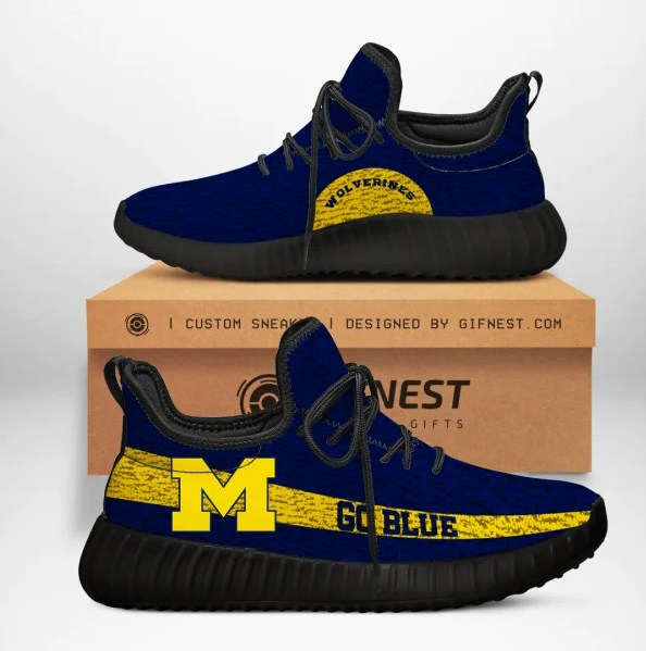 Michigan Wolverines Go Blue NCAA Yeezy Sneaker