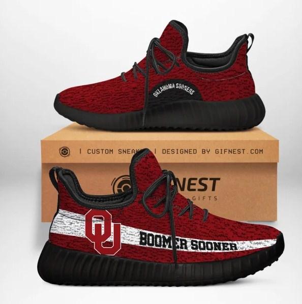 Oklahoma Sooners Boomer Sooner NCAA Yeezy Sneaker