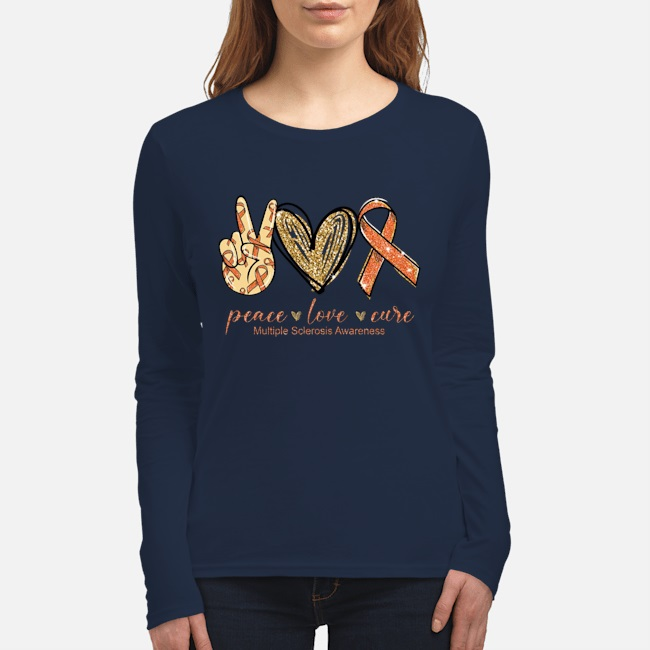 Amazing Peace love cure multiple sclerosis awareness shirt