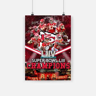 New ver Super bowl champions kansas city chiefs poster