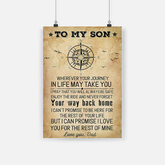 New ver To my son wherever your journey in life may take you poster