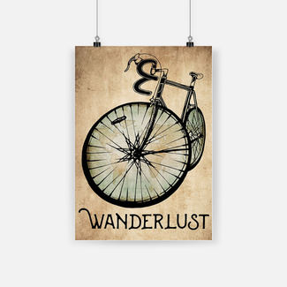 New ver Wanderlust bicycle poster