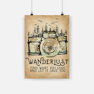 New ver World map wanderlust find what you love and let it save you poster
