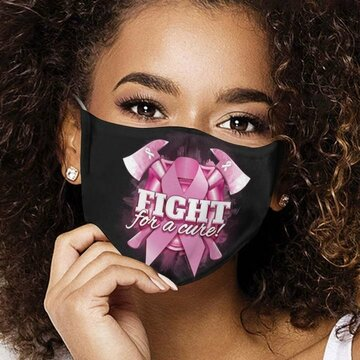 Breast Cancer Awareness Ribbon Fight For A Cure Face Mask
