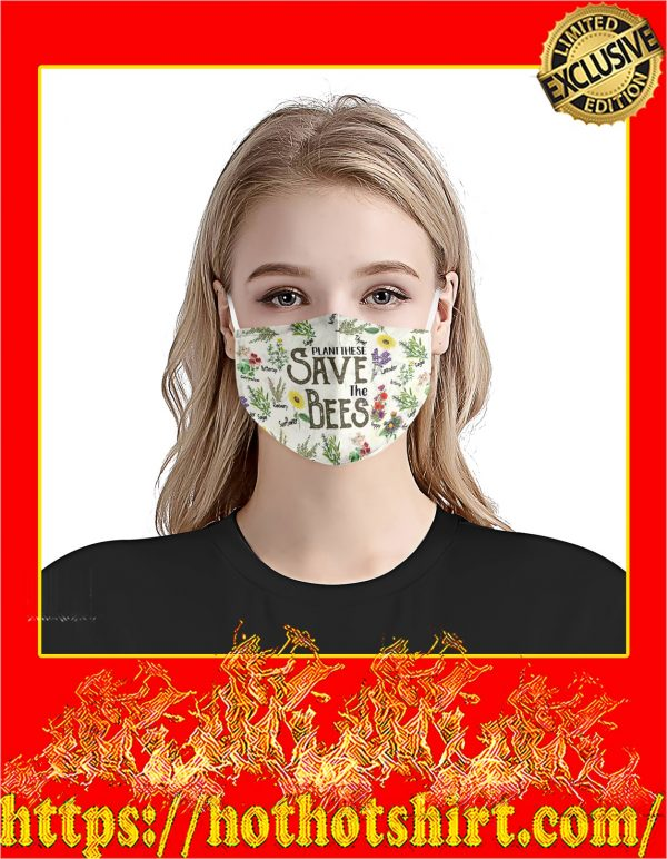 Plant these save the bees face mask