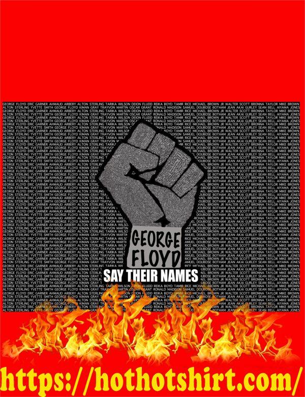 Say their names black lives matter poster