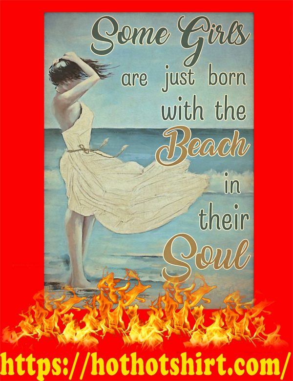 Some girls are just born with the beach poster