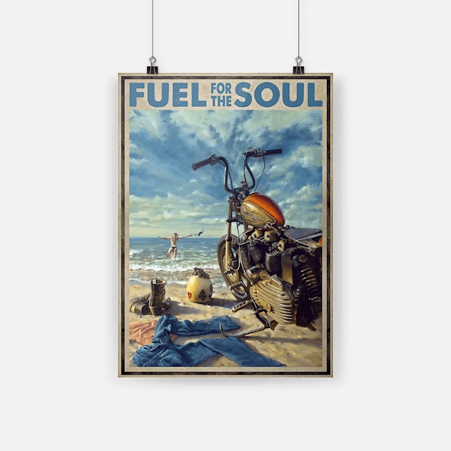 Biker girl fuel for the soul poster