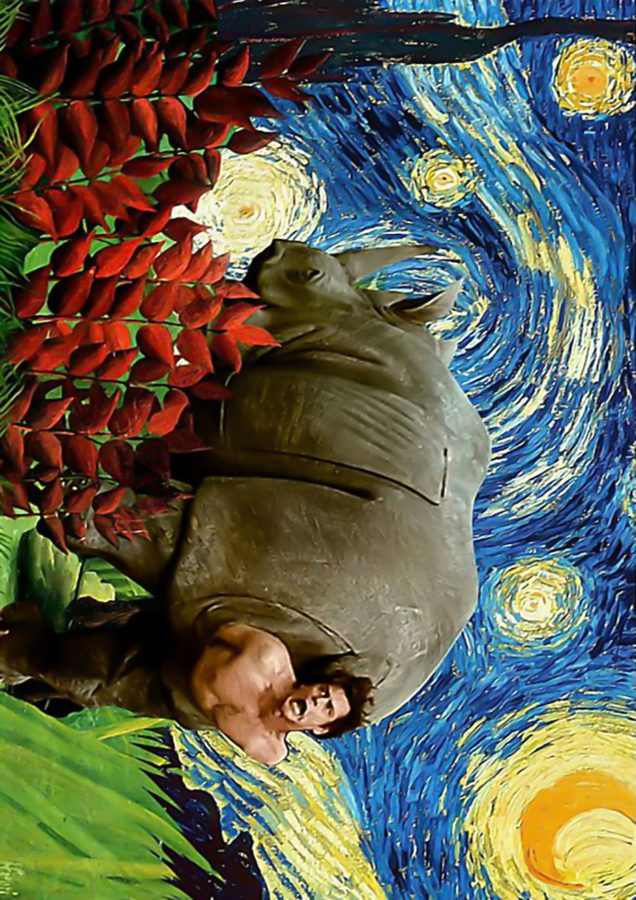 Rhino ace ventura starry night Van Gogh poster2