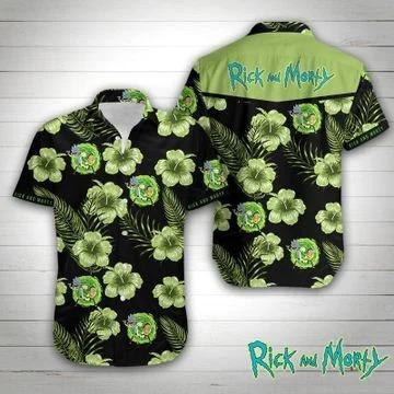 Rick and Morty hawaiian shirt