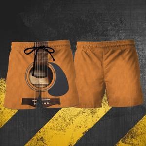 New ver Love guitar hawaiian shorts