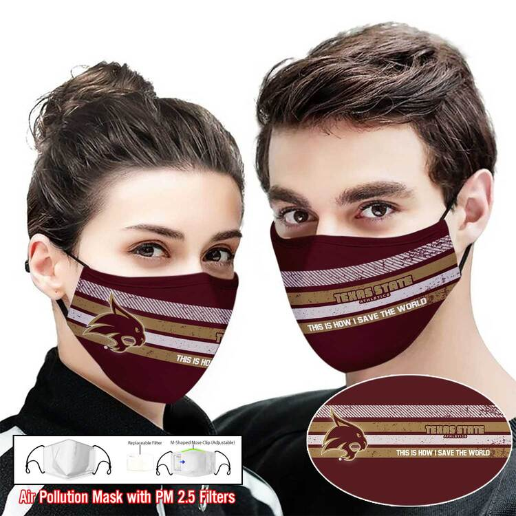 New ver Texas state bobcats this is how i save the world face mask