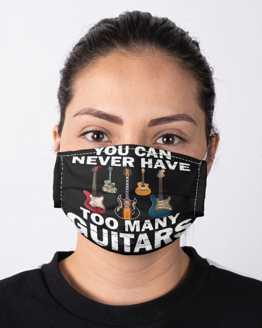 You can never have too many guitars face mask