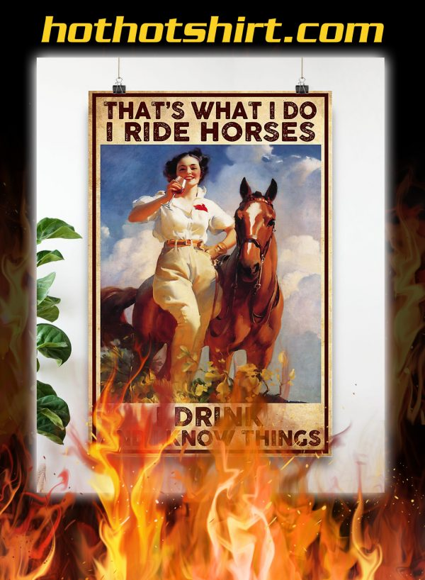 That's what i do i ride horses i drink poster