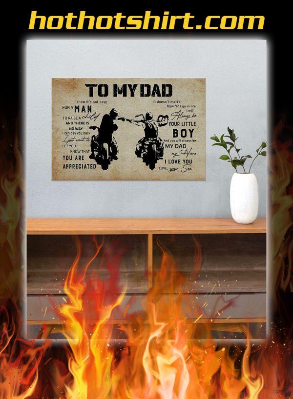 To my dad son biker poster