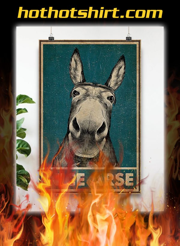 Funny Donkey nice arse poster