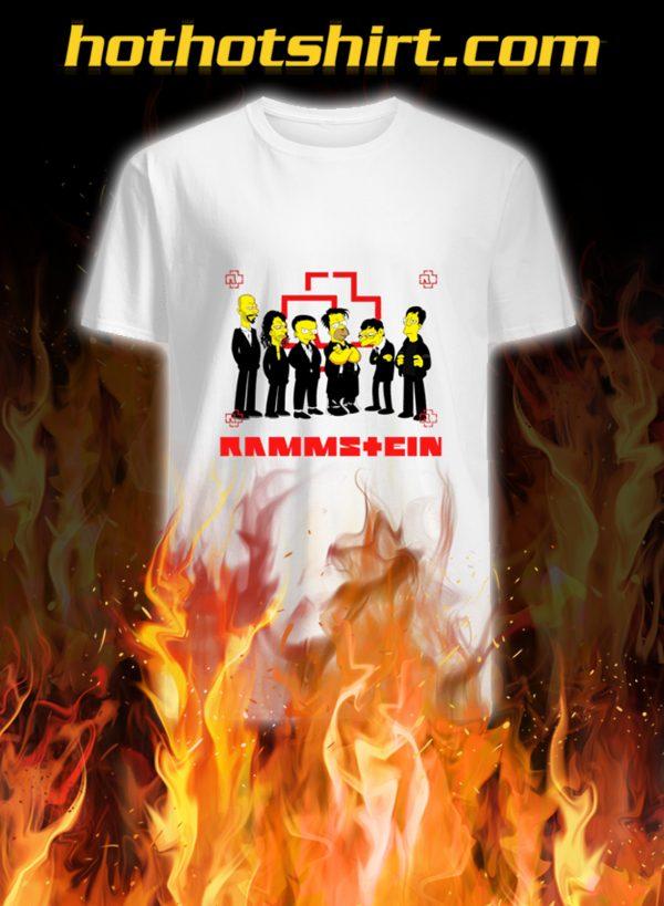 Rammstein the simpsons shirt
