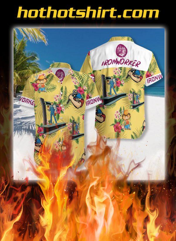Ironworker hawaiian shirt
