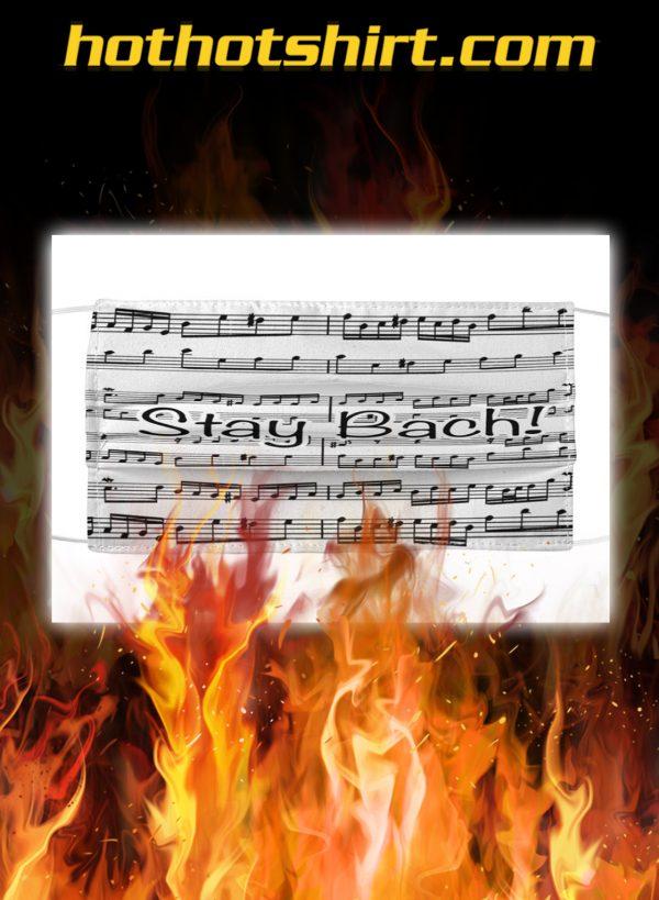 Stay bach sheet music face mask