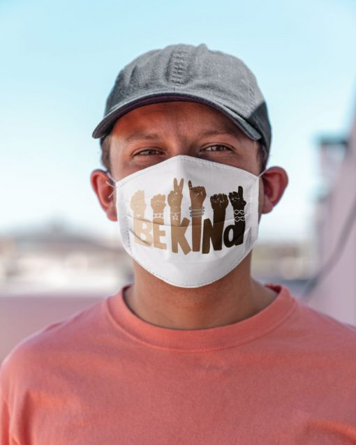 Be kind sign language face mask