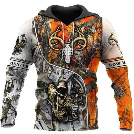 Bow Hunter Deer Camo 3D All Over Printed Hoodie