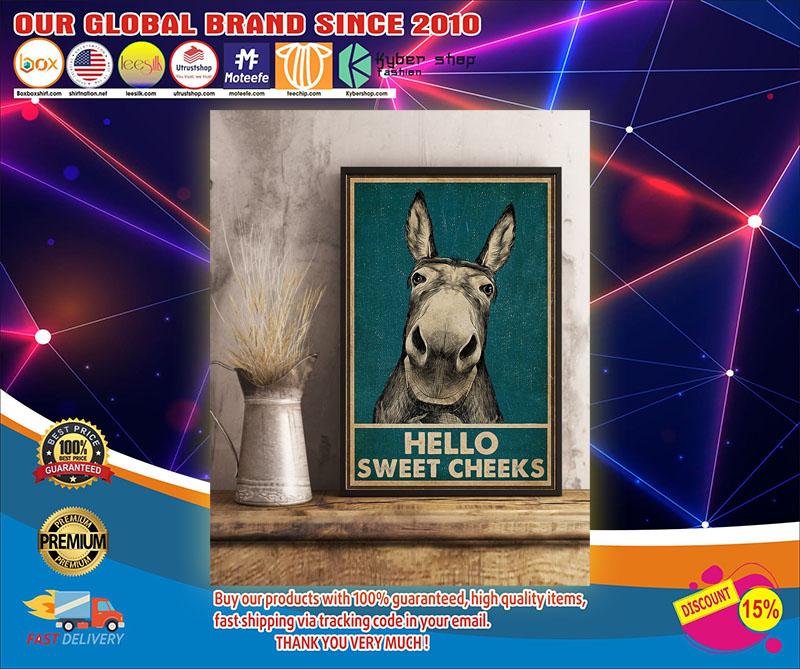 Donkey Hello Sweet Cheeks Poster1