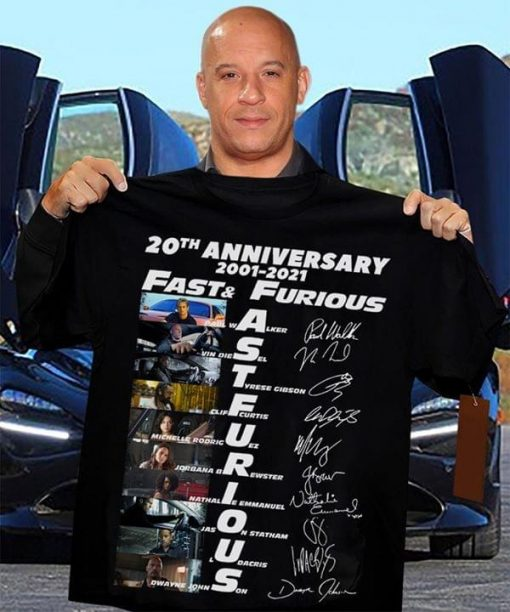 Fast and Furious 20th Anniversary 2001-2021 shirt, tank top, hoodie