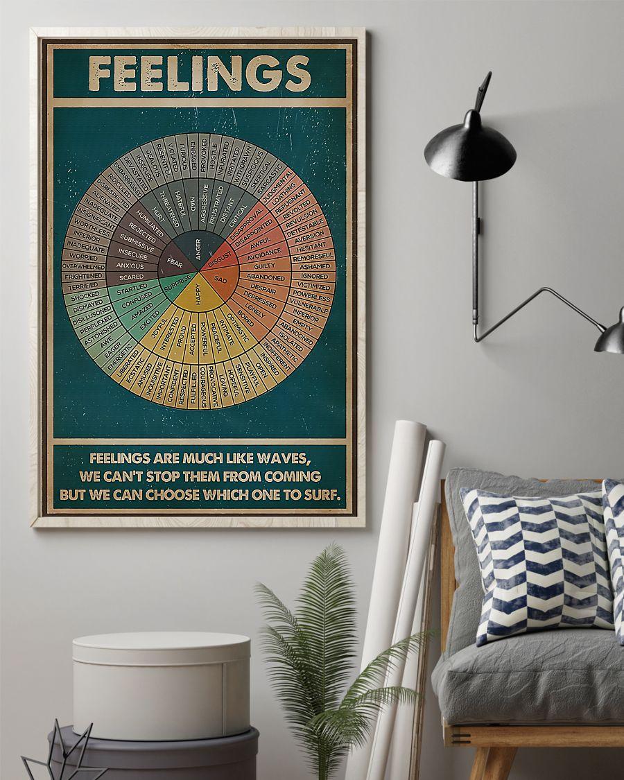 Feelings feelings are much like waves poster