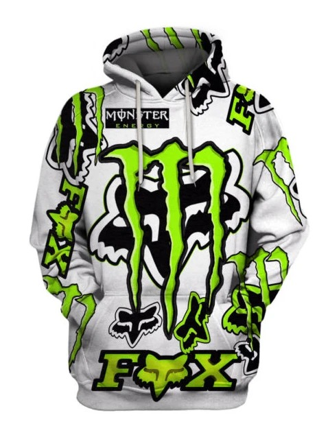 Fox Racing Monster Energy 3D hoodie