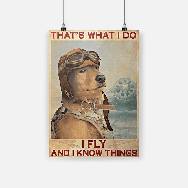 Golden retriever that's what I do I fly poster