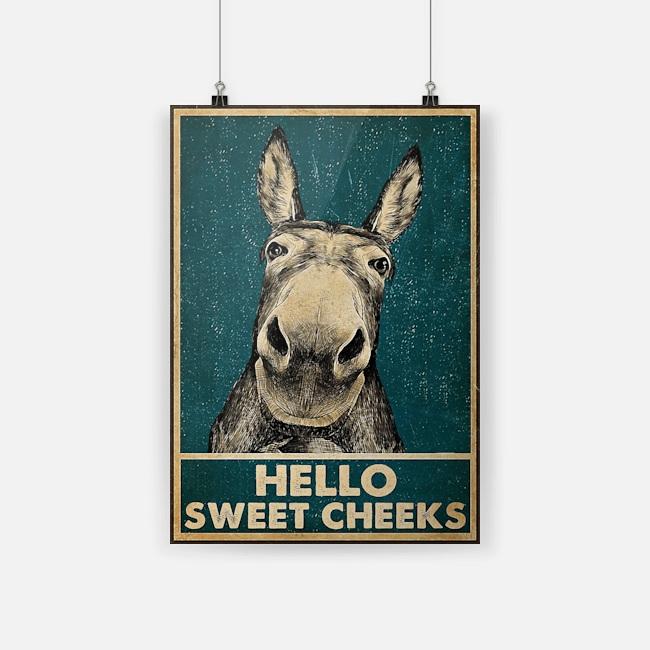 Hello Sweet Cheeks Donkey Poster