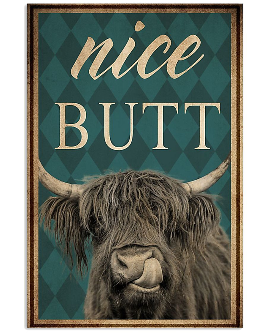 Highland cow nice butt poster5