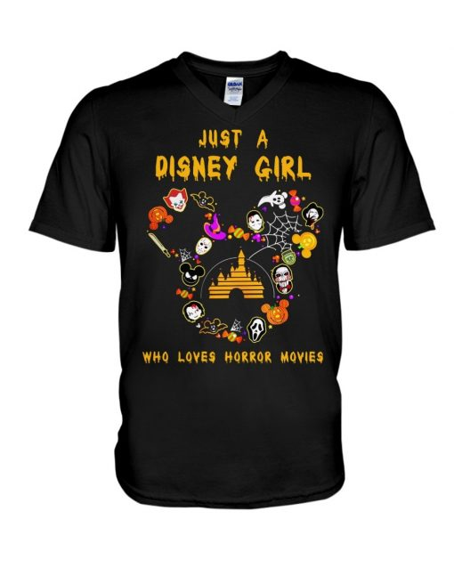 Just a Disney girl who loves horror movies shirt, tank top, hoodie