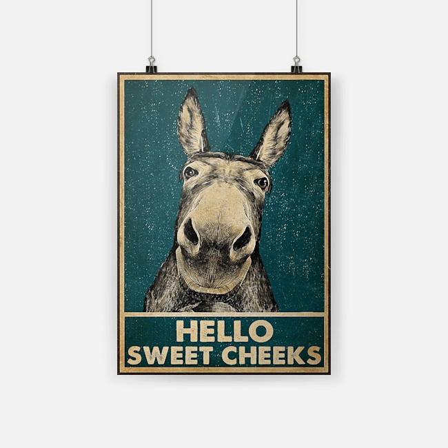 Poster Donkey Hello Sweet Cheeks