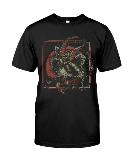 New ver skull gothic raccoon satan shirt