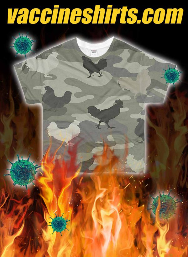 Chicken all over printed 3d shirt