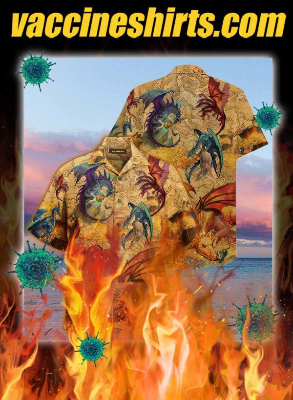 Dragons unisex hawaiian shirt