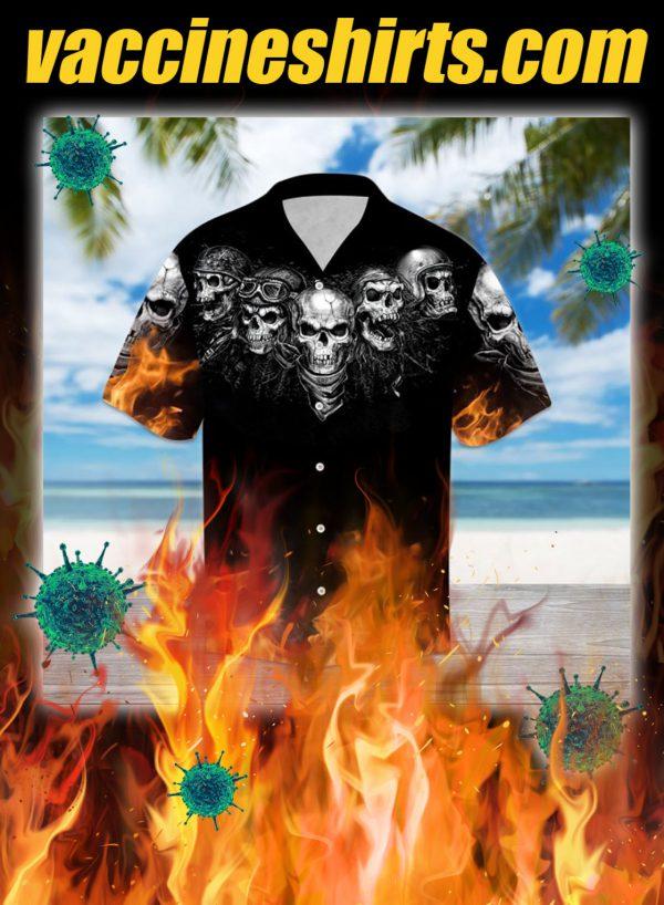 Biker skull hawaiian shirt