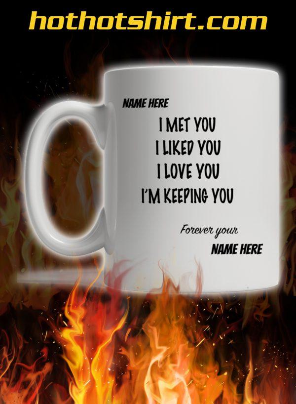 Personalized customized name I met you i liked you i love you mug