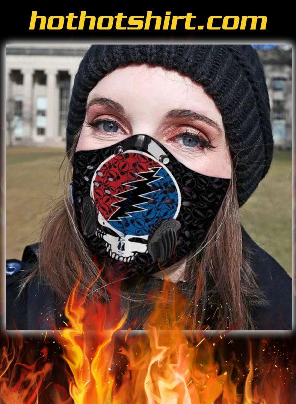 Grateful dead band filter carbon face mask