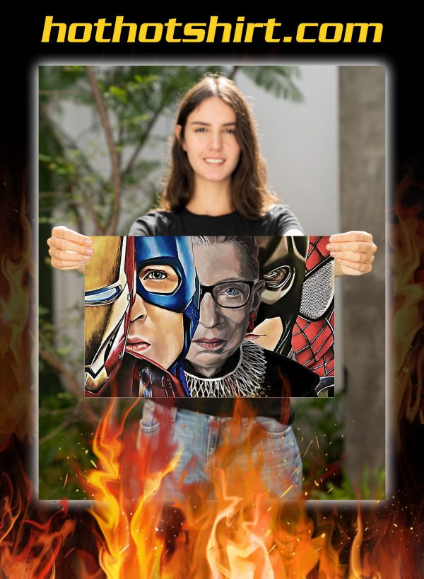 RBG with superheroes poster