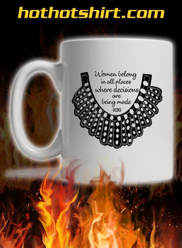Rbg collar women belong in all places mug