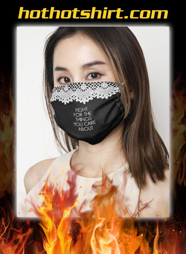 Rbg collar fight for the things you care about face mask