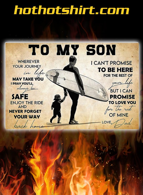 Surfing to my son poster