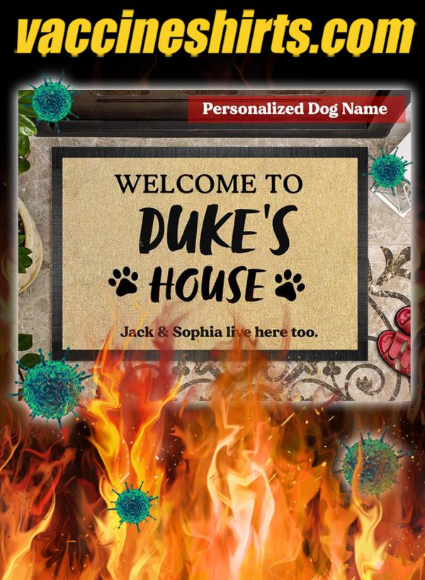 Personalized Dog welcome to duke's house doormat