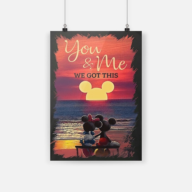 Sunset beach mickey minnie you and me we got this poster